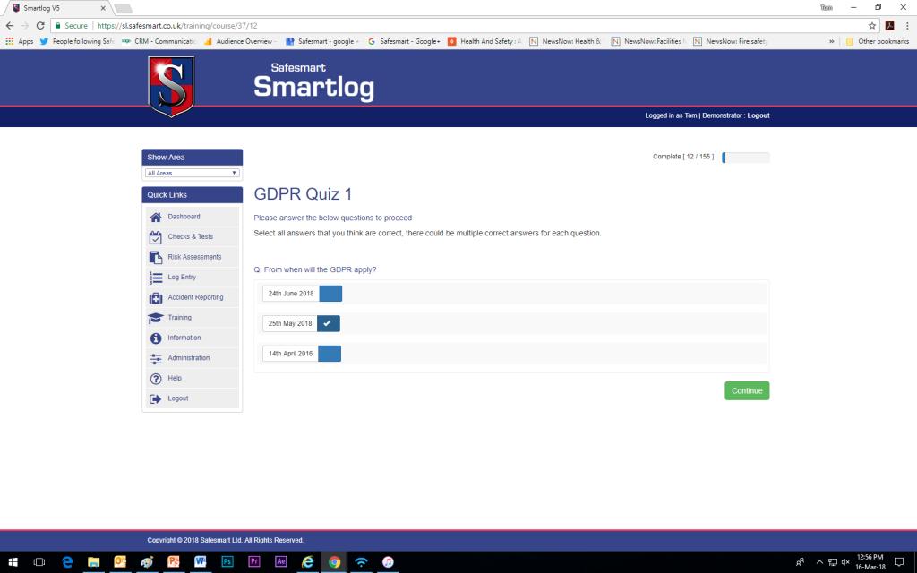 GDPR Online Test